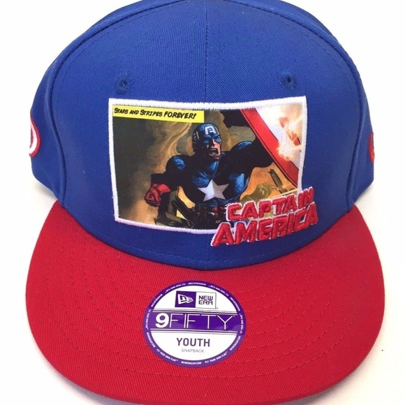 efebe9d95ad New Era 9Fifty Captain America Youth SNAPBACK Hat